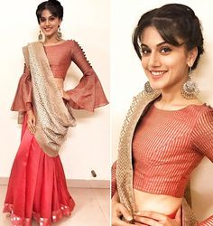 Taapsee Pannu in aza designer  Myoho Shop for it from azafashions.com