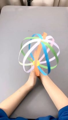 Girly Things A simple tutorial to show you how to DIY a spinning ball. Paper Crafts For Kids, Projects For Kids, Diy For Kids, Easy Crafts, Diy And Crafts, Winter Art Projects, Art Lessons For Kids, Hobbies And Crafts, Straw Crafts