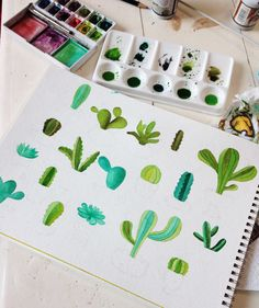 Cactus en acuarela on Behance