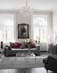 #bardoszsuzsa #interiordesign Window Dressings, Windows, Interiors, Living Room, Interior Design, Mirror, Furniture, Home Decor, Nest Design