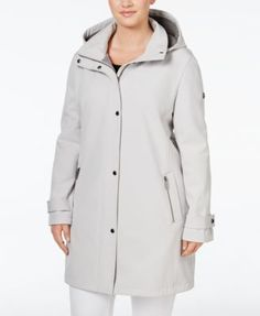 Calvin Klein Plus Size Hooded 4-Way Stretch Softshell Raincoat