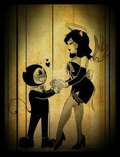 Bendy x Alice Angel by Kimmys-Voodoo