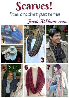 Scarves - free crochet pattern from Jessie At Home: