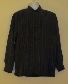 EUC Tommy Bahama Blue Nice Design! Silk Casual Button-Up Dress Shirt L Large  $45.99