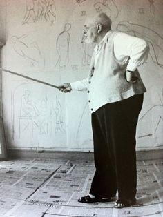 Henri Matisse in his atelier, circa 1950