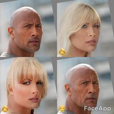 Dwane Johnson with FaceApp