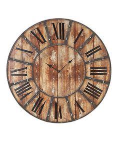 Look what I found on #zulily! Roman Numeral Clock #zulilyfinds