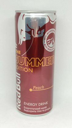 Red Bull, Energy Drinks, Peach, Canning, Ukraine, Empty, Summer, Summer Time, Peaches