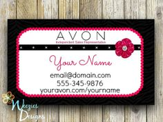 Youravontcelestaine my avon business pinterest avon business card direct sales marketing by weeziesdesigns 800 cheaphphosting Gallery