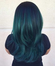 Jewel Tone Teal Hair Color