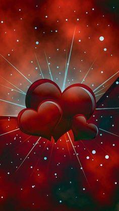 Wallpaper…By Artist Unknown… - Modern Heart Wallpaper, Love Wallpaper, Cellphone Wallpaper, Colorful Wallpaper, Iphone Wallpaper, Love Heart Images, Love You Images, Heart Pictures, Heart Pics