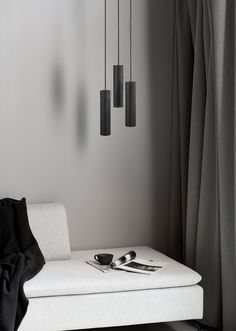 Tilo 3-light pendant with three lamp heads in black metal and black painted ash is a luminous piece of art in the home. Use Tilo to light up a dark corner in the living room or bedroom as it emits a nice warm light and has a beautiful visual look. #Living Room #Interior Design #Inspiration #Décor Ideas #Nordic #Danish Design #Scandinavian #Modern #Minimalist #Black & White #Cozy #Pendant #Ceiling Lamp #Lighting 3 Light Pendant, Pendant Lighting, Wardrobe Design, Types Of Lighting, Minimal Design, Floating Nightstand, Interior Design Living Room, Home Decor, Black Metal