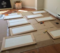 Melamine Cabinet DIY - This is honestly the first DIY that seems not-so-overwhelming. It's going to happen! 2015!