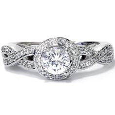 Bliss 14k White Gold 1ct TDW Diamond Vintage Engagement Ring (H-I, I1-I2) | Overstock.com Shopping - The Best Deals on Engagement Rings