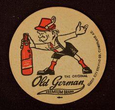 Old German Beer Coaster Mat Drink Paper Queen City