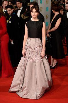 La alfombra roja de los Premios BAFTA 2015 FELICITY JONES
