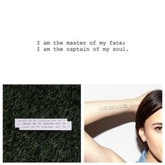 Invictus - Temporary Tattoo (Set of 2)