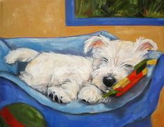 Another Denise Randall print - reminds me of Gracie about a year ago when she was just a pup