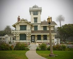 Point Fermin Lighthouse - San Pedro, CA. Stick style architecture, made of California Redwoods, 1874.