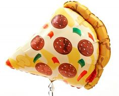 Jumbo pizza balloon! Great for a TMNT party.. Or any kind of pizza party! #tmnt