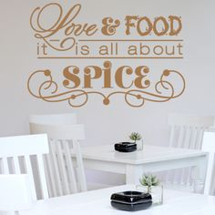 Love and Food Sticker Wall Decor