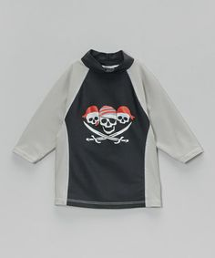 Loving this Gray & Black Yo Ho Ho Rashguard - Infant, Toddler & Boys on #zulily! #zulilyfinds