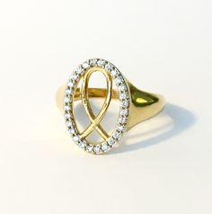 Oval Fish Messianic Judaism Hadassah Fine Jewelry Ring 18karat Gold Layered Zirconia Ref. AN09 by HADASSAHjewelry on Etsy