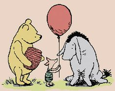 Cross Stitch Pattern PDF: Classic Pooh - Eeyore's Birthday