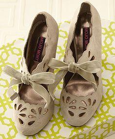 Grey retro heels