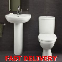 Huge range of modern and traditional bathroom suites at BigBathroomShop to suit any home - interest free credit and free delivery available - shop now Sink Vanity Unit, Basin Sink Bathroom, Sink Drain Plug, Traditional Bathroom Suites, Cloakroom Suites, Inset Basin, Close Coupled Toilets, Stone Countertops, Modern Bathroom