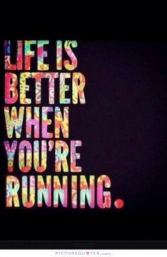 Running is a great way to relieve stress and clear the mind!