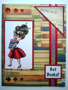 Simply Betty Stamps Librarian Nikki