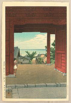 Ioridani Pass, Etchu, by Kawase Hasui, 1928 Japanese Nature, Japanese Landscape, Palette Art, Indonesian Art, Traditional Paintings, Japanese Prints, Japan Art, Woodblock Print, Chinese Art