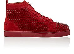 We Adore: The Spiked Louis Flat High-Top Sneakers from Christian Louboutin at Barneys New York