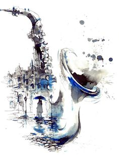 melody city - Buy this stock illustration and explore similar illustrations at Adobe Stock Music Painting, Music Artwork, Music Drawings, Art Drawings, Violin Art, Music Images, City Art, Art Sketchbook, Watercolor Art
