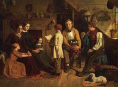 "pre-raphaelisme: ""The Emigration Scheme by James Collinson, 1852 "" Gabriel Rossetti, Pre Raphaelite Brotherhood, John Everett Millais, William Waterhouse, Victorian Art, Victorian Women, Great Friends, Persona, Artwork"