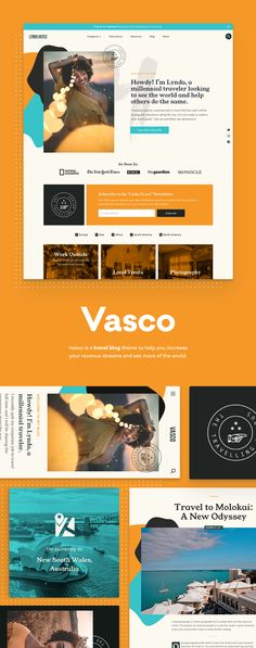 Vasco is a travel blog theme to help you increase your revenue streams and see more of the world.