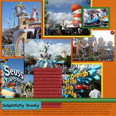 These pictures were taken in Seuss Landing at Universal's Islands of Adventures in Orlando. I love that place!  template - Stacked Templates by Katie the Scrapbook Lady papers - Rainbow papers by Katie the Scrapbook Lady elements - Rainbow elements by Katie the Scrapbook Lady, extracted elements found online (source unknown)  Journaling: Islands of Adventures has held a special place in my heart since it opened. It's not only because I was there shortly after it opened, because I visited ...