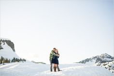 Artist Point Engagement Photos | Mountain Wedding Photographers | Seattle Wedding Photographers | Salt and Pine | www.saltandpinephoto.com | #mountain #northcascades #mtbaker #artistpoint #engaged #engagement #wedding #snow #winter #snowshoe #adventure #photography