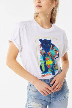 adidas Ardmore Graphic Tee | Urban Outfitters Tees For Women, Clothes For Women, Mesh Long Sleeve, Everyday Look, Cool Shirts, Graphic Tees, Graphic Design, Urban Outfitters, Adidas