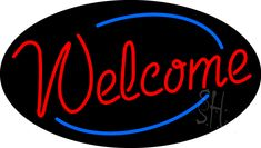 Welcome Animated Neon Sign How To Attract Customers, West Bengal, Make You Smile, Kisses, Welcome, Red And Blue, Identity, Gifs, Neon Signs