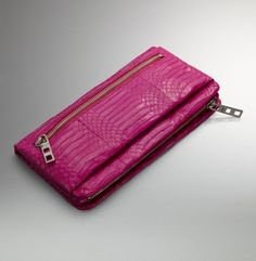On The Go Clutch. Kenneth Cole New York. in geranium