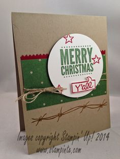 StampinTX: Yee Haw Christmas Card and Everyday Card Idea