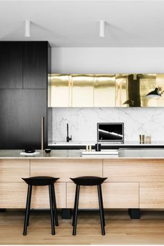 B&W | Gold | Metallic | Streamline | Clean Lined |  Contemporary | Sharp