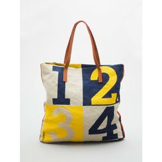 Loquita Numbers Canvas Tote | sorta cute for casual wear :)