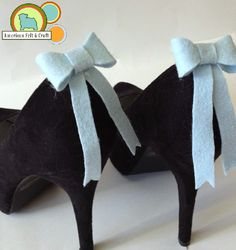 Felt shoe clips tutorial with templates