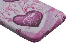 Slim Fit Flexible TPU Case for HTC One mini M4 (Purple Sea-Heart) $4.99