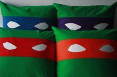 Teenage Mutant Ninja Turtles Baby Pillows by BedHogShop on Etsy, $28.00