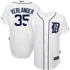 Detroit Tigers #35 Justin Verlander White Replica Baseball Jersey_Justin Verlander Baseball Jersey