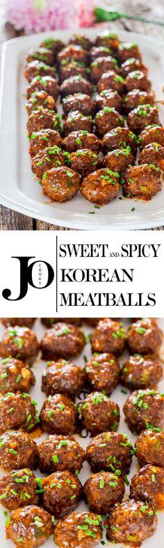 Get the recipe Sweet Spicy Korean Meatballs @recipes_to_go Meatball Recipes, Meat Recipes, Asian Recipes, Appetizer Recipes, Dinner Recipes, Cooking Recipes, Healthy Recipes, Dinner Ideas, Shrimp Recipes